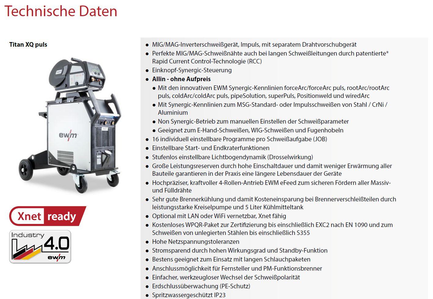 Konfigurator ewm Titan XQ - konfigurieren Sie Ihre pers