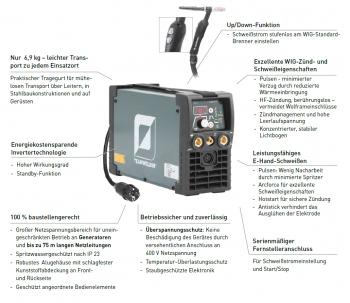 EXPERT SET - Teamwelder TIG 180 DC PULS