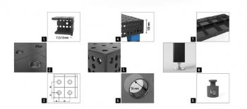 Siegmund Schweißtisch System 16 Professional Extreme 8.7 Plasmanitriert 50 mm Raster