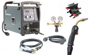 Schutzgas Schweißinverter Teamwelder MIG 180 D3 Synergic puls Set