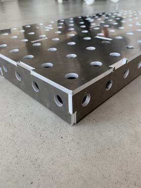 HDB GEAR Bausatz Aluminium Schweißtisch 800x400 AlMg1 16er Bohrung für Zwingen