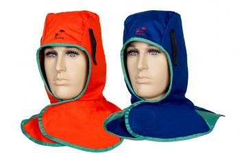 Schweißerhaube aus flammhemmendem Gewebe mit Klettverschluss Größe: One size  Hood, orange