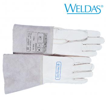 WIG-Schweißerhandschuh aus Kalbsvollleder mit verstärktem Daumen S - XXL  WIG Softtouch M