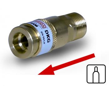 Schlauchkupplung zum Anbau an Verbrauchsgeräte oder für den Schlaucheinbau  DKG