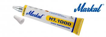 Metallkugel-Tubenschreiber mit Hochtemperaturfarbe, ideal für Schweißnähte, Rohblöcke, Guss-, Schmiede- und andere Härtungsteile   Markal HT.1000 3mm