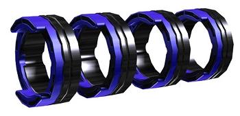 FE 4R 1,0 MM/0.04 INCH BLUE