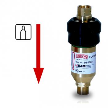 Sicherheitseinrichtung für hohe Gasentnahmen mit druckgesteuerter Nachströmsperre  DS2000