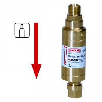 Sicherheitseinrichtung für Anwendungen mit hohen Durchflussleistungen  DG91UA