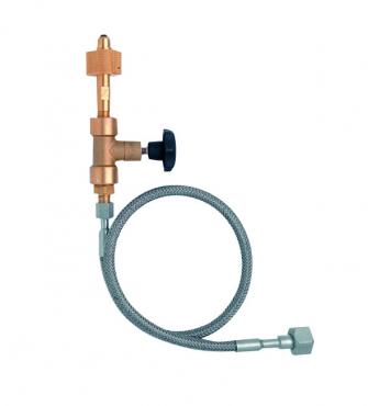 Flaschen-/Bündel-Anschlussschlauch für Sauerstoff und technische Gase mit geprüften Hochdruck-Rückschlagventilen und integrierten Entlüftungsventilen nach EN 15615 für Betriebsdrücke von 300 bar.  Flaschen-/ Bündel-Anschlussschlauch (300 bar)