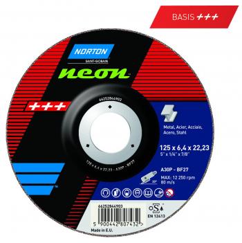 Schruppscheibe für Stahl  Norton Neon 115 x 6.4 x 22.23