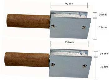 Magnetpolklemme mit Doppelklemmanschluss  400 A, 6 mm