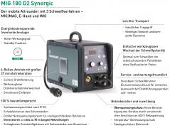 MIG MAG Schweißgerät Inverter MIG 180 D2 Synergic Set