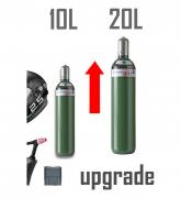 Set Upgrade von 10l Gasflasche auf 20l