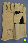 MIG/MAG Wildlederhandschuh, braun, Kevlar®, Länge 35 cm