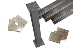 Tischbeine SET 700mm inkl. Adapter Platten - HDB GEAR Schweißtisch 2.0