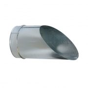 BOP 160mm Ausblasstutzen mit Vogelschutzgitter, verzinkt