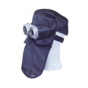 Lederhaube Vulkan Komfort mit Metallrahmen und Schutzbrille (ohn
