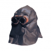 Lederhaube, Rückseite offen  LHO dm 50 mm