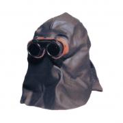 Lederhaube mit geschlossenem Kopfschutz zum Ãœberkopfschweißen m