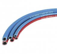 Zwillingsautogenschläuche mit Textilfadeneinlage für Brenngas/Sauerstoff Gasart: Argon / H2 / CO2 (Formiergas)  Autogenzwillingsschläuche Meterware