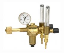 Einstufiger Druckminderer mit zwei Schwebekörperanzeigen zur Durchflussmessung Gasart: Argon / CO2  CONSTANT 2000 AR IPC 2FD