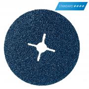 Fiberscheibe für Edelstahl, Stahl und NE-Metalle  Norzon dm 115 x 22 mm, P120