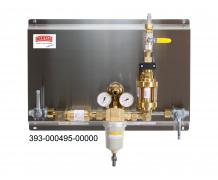 Gasversorgungsanlagen für Acetylen mit Leistungen bis zu 150 m³/h  Stationäre Gasversorgungsanlage, Acetylen 1,5 bar