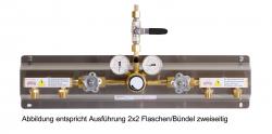 Baukastensystem - Montage auf Edelstahlplatten  Stationäre Gasversorgungsanlage, Sauerstoff und hochverdichtete Gase
