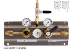 Gasversorgungsanlagen für Sauerstoff und hochverdichtete Gase mit mechanischer Umschaltung (Vorrangschaltung)  Stationäre Gasversorgungsanlage, Sauerstoff und hochverdichtete Gase, automatisch mechanische Umschaltung
