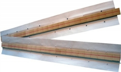 Keramische Badsicherung, Halbrundnut  31.7 x 11.1 x 7.9 x 1.6 mm