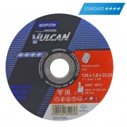 Trennscheibe für Edelstahl  Norton Vulcan 125 x 1.0 x 22.23