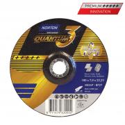 Schruppscheibe für Stahl und Edelstahl  Norton Quantum 3 Keramik 125 x 7.0 x 22.23