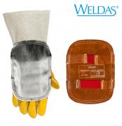 Hochhitzefester, aluminisierter Handschutz mit Lederrückseite  1