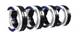 Antriebsrollenset 0.8 mm - 1 mm, Weiß/Blau